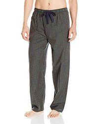 Izod - Yarn-dye Woven Broadcloth Pajama Pant - Lyst