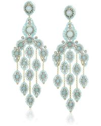 Miguel Ases - Gold-filled Amazonite Cascading Drop Earrings - Lyst