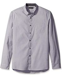 Kenneth Cole - Long Sleeve End Shirt - Lyst