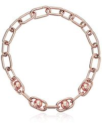 Michael Kors - S Pearl Link Collar Necklace - Lyst