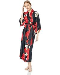 Natori Printed Charmeuse Robe