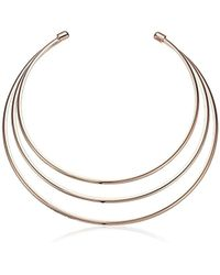 Guess - Rgd Metal Choker Necklace, Rose Gold - Lyst