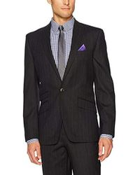 Ben Sherman - Slim Fit Two Button Windowpane Suit - Lyst