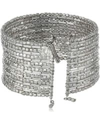 "Kenneth Cole - ""seed Bead Boost Silver Seed Bead Coil Bracelet, 7.5"" - Lyst"