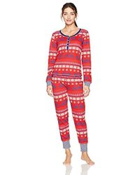 Tommy Hilfiger - Long Sleeve Thermal Pajama Set Pj - Lyst