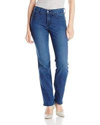 NYDJ - Petite Hayley Straight Jeans - Lyst