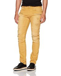 e994a759 Wrangler Blue & Yellow Slim Tapered Jeans in Blue for Men - Lyst