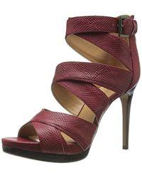 Nine West - Bonjorno Leather Heeled Sandal - Lyst