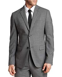 162ea1c53f2 Lyst - Theory Wellar Camley Windowpane Wool Suit Jacket in Blue for Men