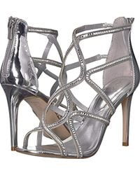 ac783cc4d56b Lyst - ALDO Mally Caged Heeled Sandals in Metallic