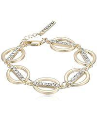 T Tahari - S Essentials Linked Ovals Bracelet, Gold, One Size - Lyst