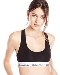 4daeaf18e6ad2 Lyst - CALVIN KLEIN 205W39NYC Modern Cotton Skinny Strap Bralette in ...