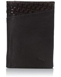 Tommy Bahama - Milled Leather And Basketweave Trifold Wallet - Lyst