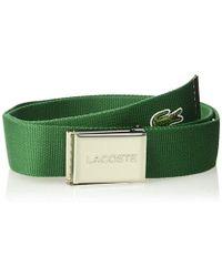 Lacoste - Textile Signature Croc Logo Belt (green) Men's Belts - Lyst