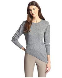 James & Erin - Contrast Stitch Crewneck Sweater - Lyst