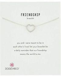 "Dogeared - Friendship, Medium Open Heart Chain Bracelet, 6""+1"" Extender - Lyst"