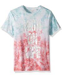 3decf579df Guess A$ap Usa Stripe T-shirt in Blue for Men - Lyst