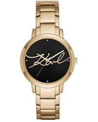 Karl Lagerfeld - Camille Quartz Stainless Steel Casual Watch, Color: Gold-tone (model: Kl2236) - Lyst
