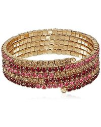 Napier - Red Multi Coil Stretch Bracelet, Gold Red - Lyst