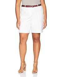 Rafaella - Plus Size Belted Supreme Stretch Short - Lyst