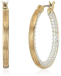 Napier - S Clickit Hoop Earrings, Two-tone - Lyst