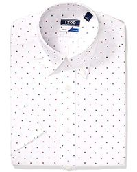 Izod - Dress Shirts Tall Stretch Big Fit Print - Lyst