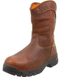 Timberland Helix Wellington Waterproof St Work Boot - Brown