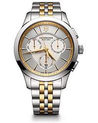 Victorinox - 'alliance' Swiss Quartz Stainless Steel Casual Watch, (model: 241745) - Lyst