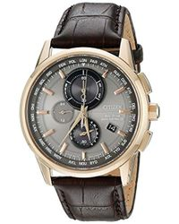 5e36a5737 Citizen Eco-drive World Chronograph Atomic Timekeeping Watch With Day/date,  At8013-17e in Black for Men - Lyst