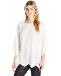 NYDJ - Printed Cardigan Sweater - Lyst