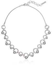 """Nine West - Silver-tone 16"""" Frontal Necklace - Lyst"""
