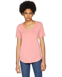 Three Dots - Refined Jersey Loose Short Top - Lyst