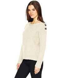 Kensie - Punk Yarn Sweater With Button Detail - Lyst
