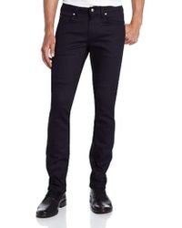 Naked & Famous Skinny Guy-midnight Power Stretch - Blue