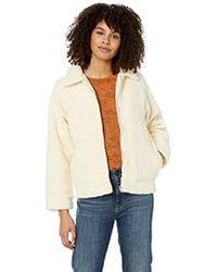 c07bc5f2b01 RVCA - Ted Sherpa Zip Through Fleece Jacket - Lyst