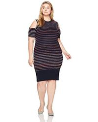 RACHEL Rachel Roy - Plus Size Space Dyed Stripe Dress - Lyst