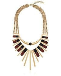 Lucky Brand - S Wood Statement Necklace - Lyst