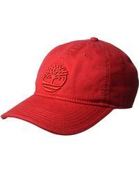 8da7590c3dab73 Timberland Logo Baseball Cap Stone in Natural for Men - Lyst