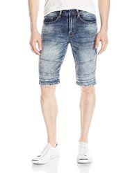 Buffalo David Bitton - Parker Slim Fit Fashion Knitted Denim Moto Short - Lyst