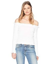 Parker - Gyladyce Off The Shoulder Long Sleeve Sweater - Lyst