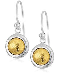 "Gurhan - ""amulet"" Sterling Silver Round Drop Earrings - Lyst"