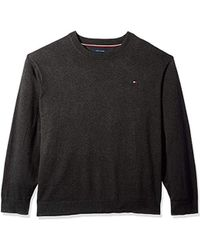 Tommy Hilfiger - Big And Tall Sweater Signature Solid Crewneck - Lyst