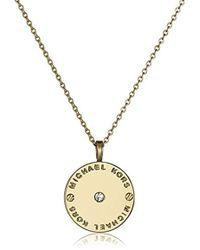 c7534898b7c21 Lyst - Michael Kors Gold-tone Baguette Fringe Necklace in Metallic