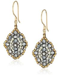 Miguel Ases - Small Pyrite Antique Style Drop Earrings - Lyst