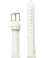 Michele - S 16mm Metallic Pearl Textured Leather Strap Gray - Lyst