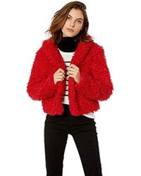 Keepsake - Lionheart Cropped Faux Fur Shaggy Coat - Lyst