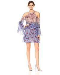 BCBGMAXAZRIA - Bcbgmax Azria Mariah Woven Paisley Cold Shoulder Dress - Lyst
