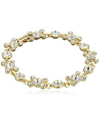 Napier - Boxed Gold-tone And Crystal Circle Bracelet - Lyst