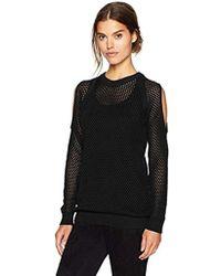 BCBGeneration - Open Stitch Cold Shoulder Sweater - Lyst