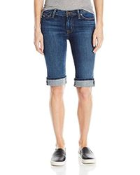 Hudson Jeans - Amelia Cuffed Knee Shorts - Lyst